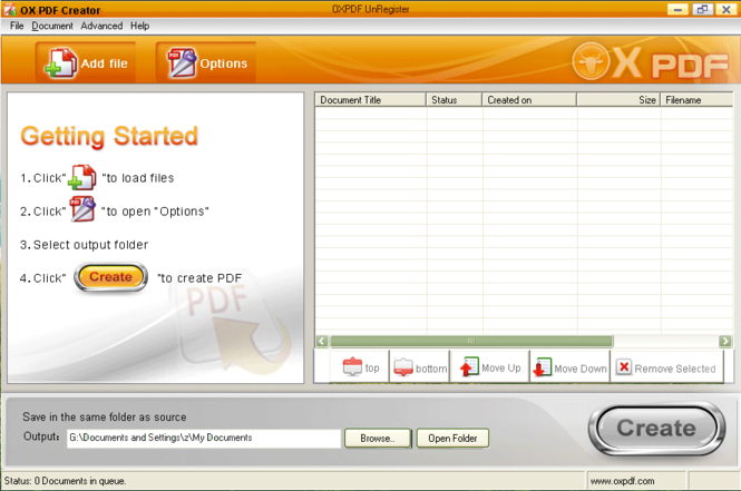 OX PDF Creator Screenshot 1