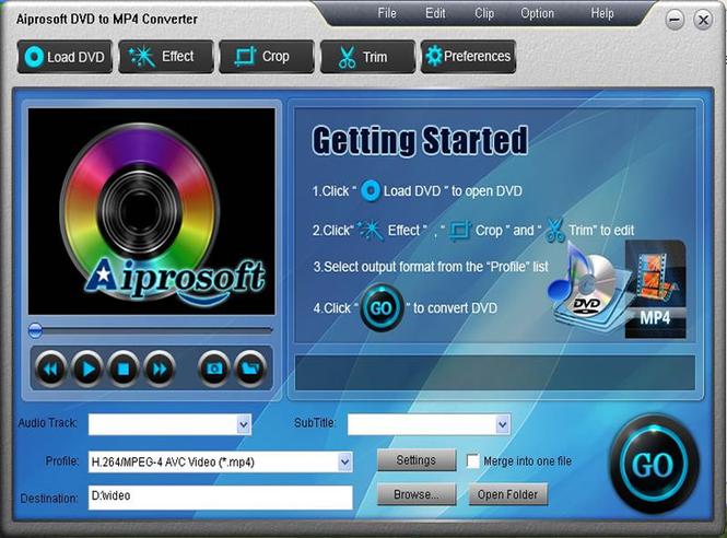 Aiprosoft DVD to MP4 Converter Screenshot 1