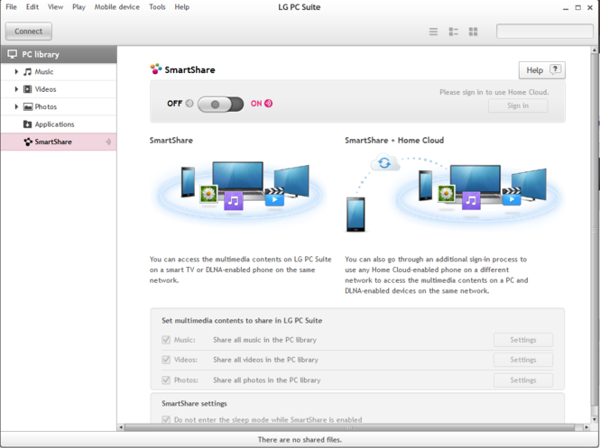 LG PC Suite Screenshot 3