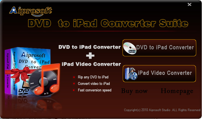 Aiprosoft iPad Converter Suite Screenshot 1