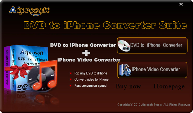 Aiprosoft DVD to iPhone Converter Suite Screenshot