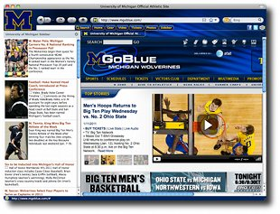 Michigan University IE Browser Theme Screenshot