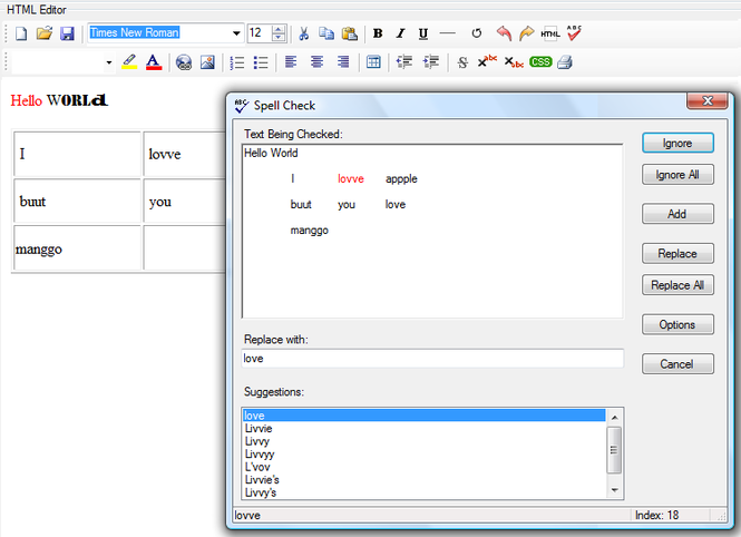 NET Win HTML Editor Control Screenshot