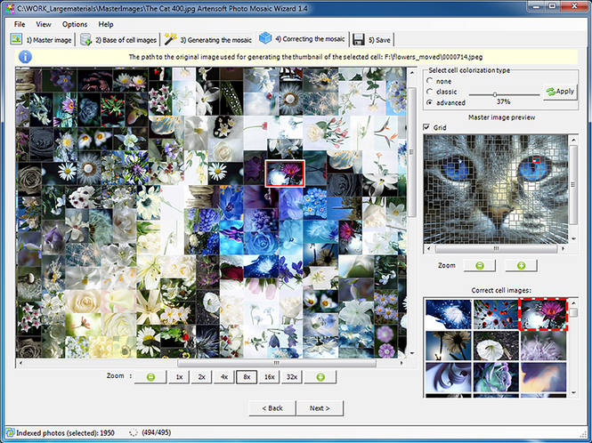 Artensoft Photo Mosaic Wizard Screenshot 1