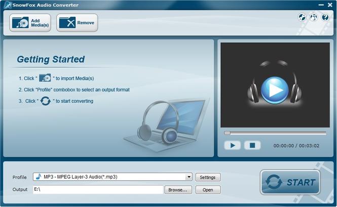 SnowFox Audio Converter Screenshot 1