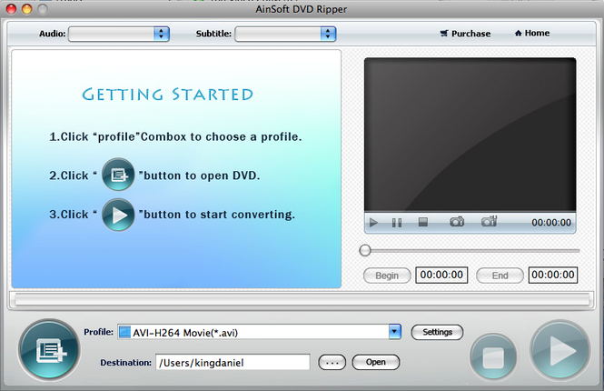 Ainsoft DVD Ripper for Mac Screenshot