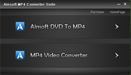 Ainsoft MP4 Converter Suite Screenshot