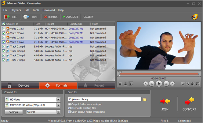 Movavi Video Converter Personal Screenshot