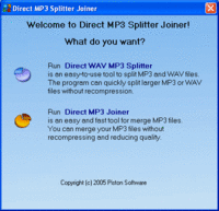 Direct MP3 Splitter and Joiner (Personal License) Screenshot 1
