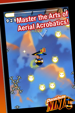 Parachute Ninja Free Screenshot