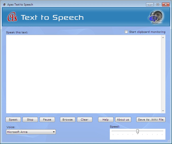 Apex Text to Speech Screenshot
