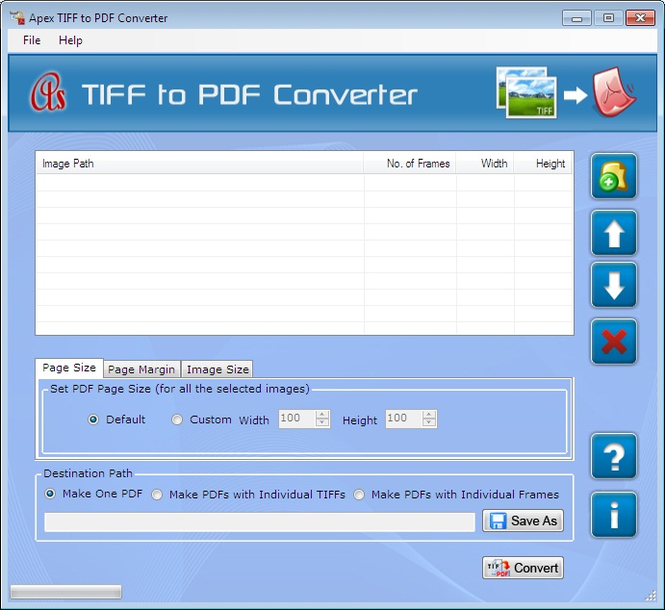 Apex TIFF to PDF Converter Screenshot