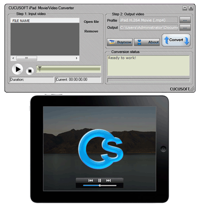 Cucusoft iPad Video Converter Screenshot