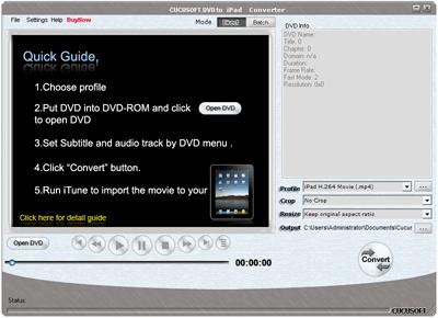 Cucusoft DVD to iPad Converter Screenshot 1