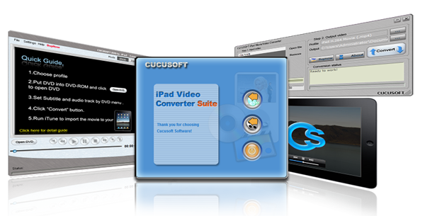 Cucusoft iPad Video+DVD Converter Suite Screenshot