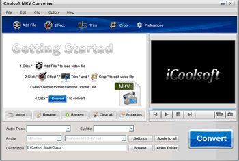 iCoolsoft MKV Converter Screenshot