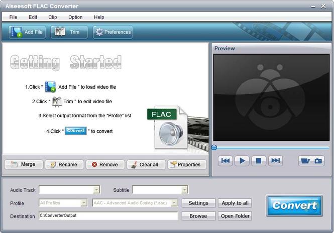 Aiseesoft  FLAC Converter Screenshot