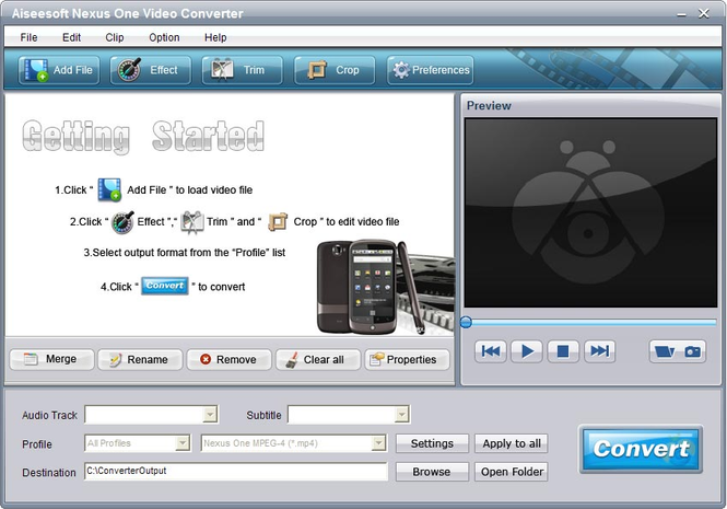 Aiseesoft Nexus One Video Converter Screenshot 1