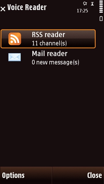 Speereo Voice Reader for Symbian Screenshot