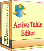 Active Table Editor - Single license (1 year maintenance and support contract) Screenshot