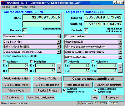 TRANSDATpro (English) Screenshot
