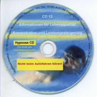 Hypnose CD - Konzentration und Leistungssteigerung Screenshot 1