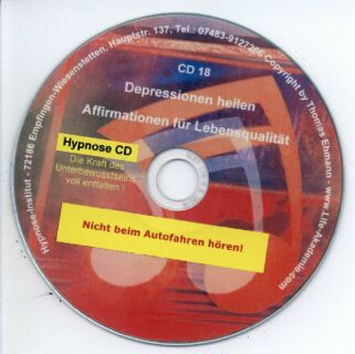 Hypnose CD - Depressionen lindern - Freude leben! Screenshot