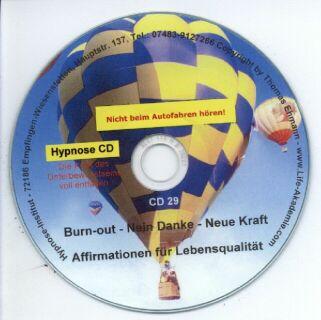 Hypnose CD - Burn-out - Nein Danke - Neue Kraft Screenshot
