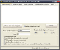 Golden Shield Video Encryptor Enterprise Edition Screenshot