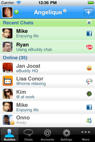 eBuddy Pro Messenger Screenshot