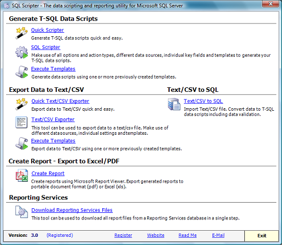 SQL Scripter Screenshot 1