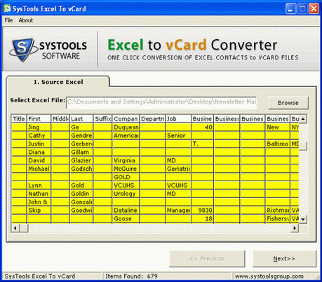 Excel to Lotus Notes Screenshot 1
