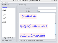 German-Arabic Joyful Dictionary With Word Test Screenshot