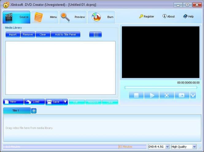 Xlinksoft DVD Creator Screenshot