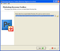 Photoshop Recovery Toolbox Screenshot 1