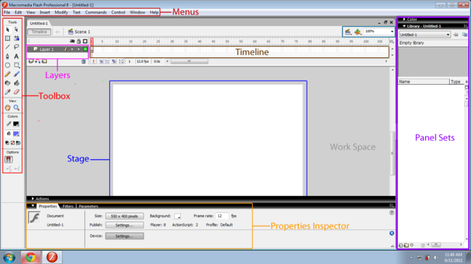 Macromedia Flash 8 Screenshot