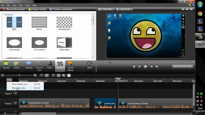 Camtasia Studio Screenshot 1