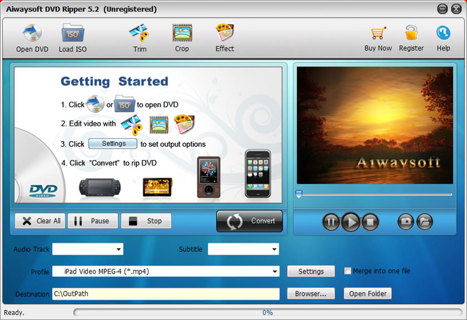 Aiwaysoft DVD Ripper Screenshot 1