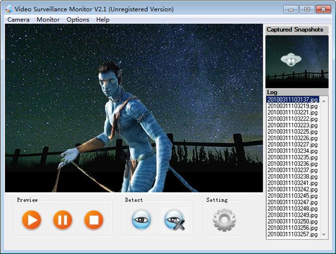 Webcam Surveillance Standard Screenshot 1