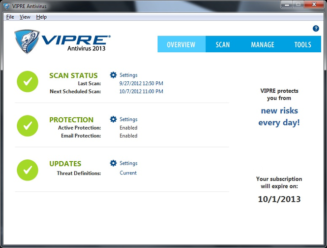VIPRE Antivirus Screenshot