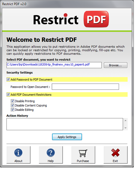 Protect PDF Screenshot 2