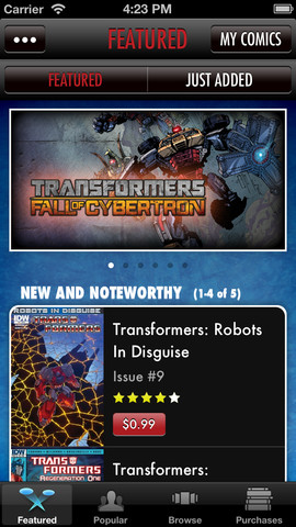 Transformers Comics Screenshot