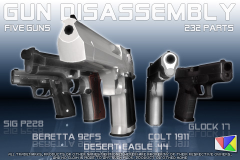 Gun Disassembly 3D Screenshot 2