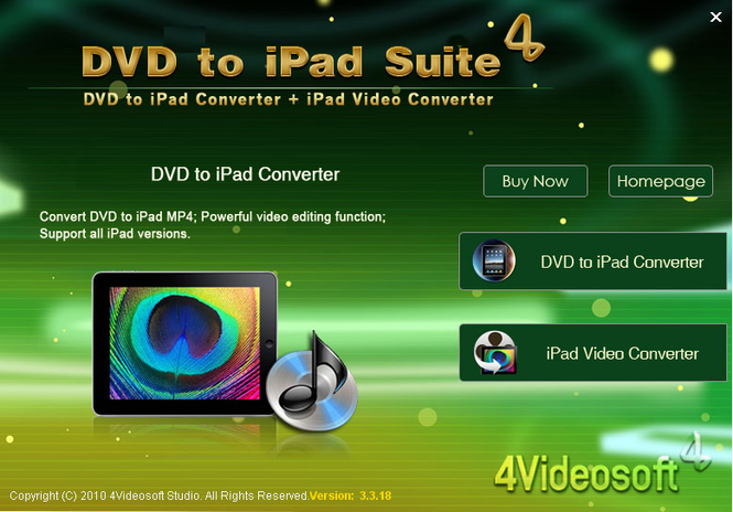 4Videosoft DVD to iPad Suite Screenshot