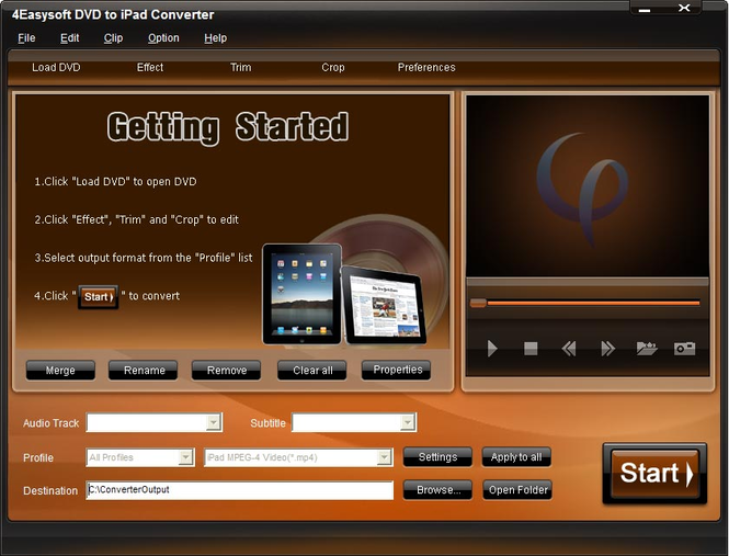 4Easysoft DVD to iPad Converter Screenshot
