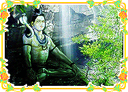 Lord Shiva meditating at the Waterfall Screenshot