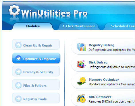 WinUtilities Professional Edition Screenshot 1