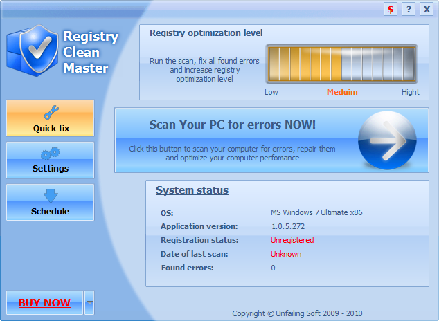 Registry Clean Master Screenshot