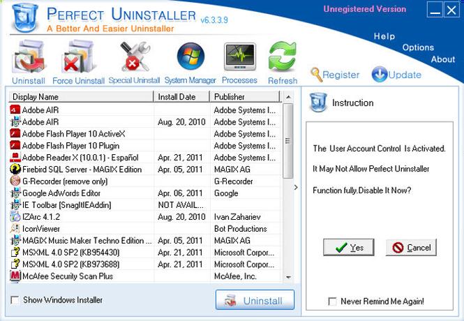 Perfect Uninstaller Screenshot 3