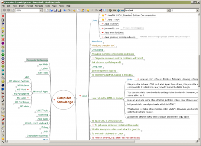 FreeMind Screenshot 1